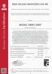 Certificação OHSAS 18001:2007